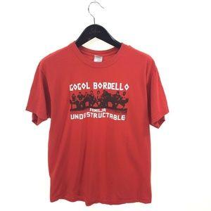 GOGOL BORDELLO Fimilja T-shirt L Large Red